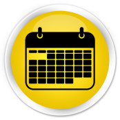 Black calendar icon on yellow