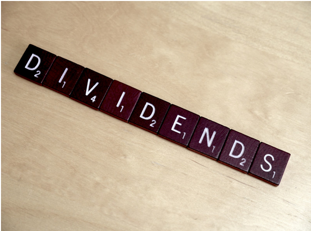 Dividends written out in scrabble letters