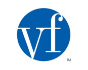 vf corp logo in blue and white