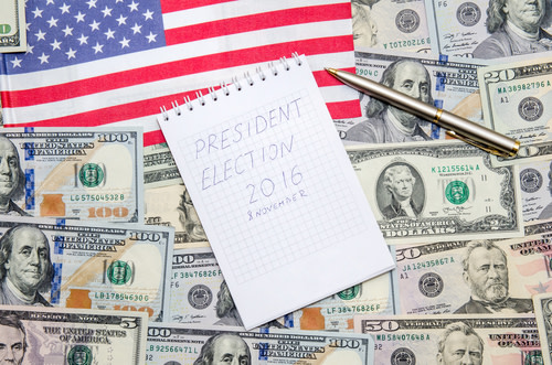 U.S. Election and U.S. Dollar Bills