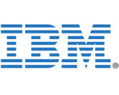 IBM logo in blue