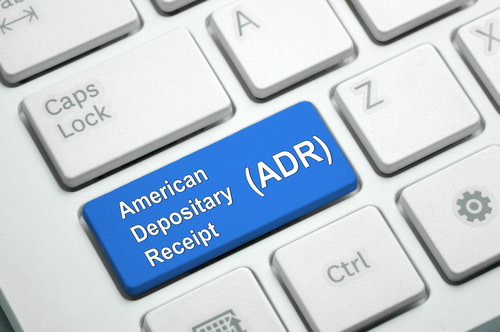 American Depositary Receipt Written on Keyboard
