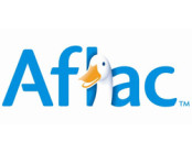 aflac logo in blue with duck