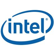 Intel logo blue and white