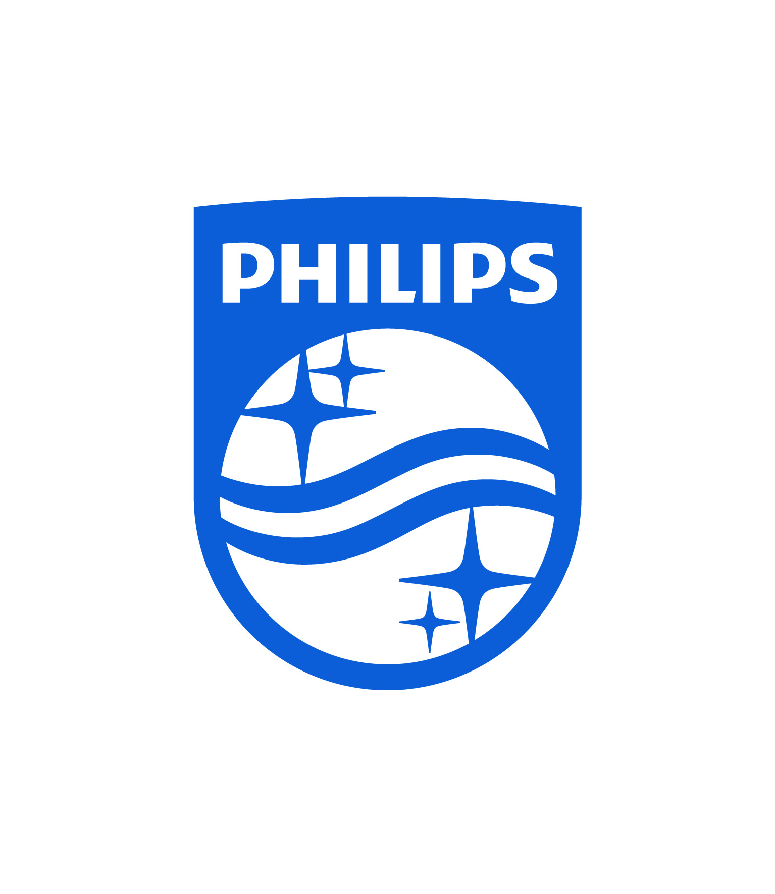 blue and white philips logo