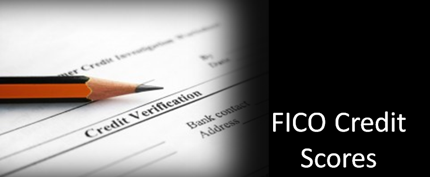 Fico credit scores header with verification form