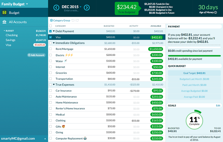 YNAB screenshot 5