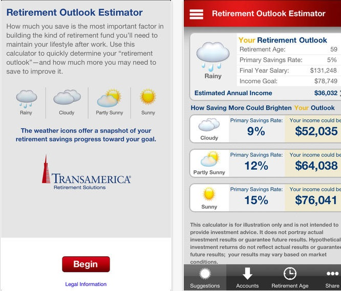 Retirement Outlook Estimator
