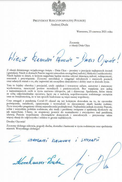 List pary prezydenckiej