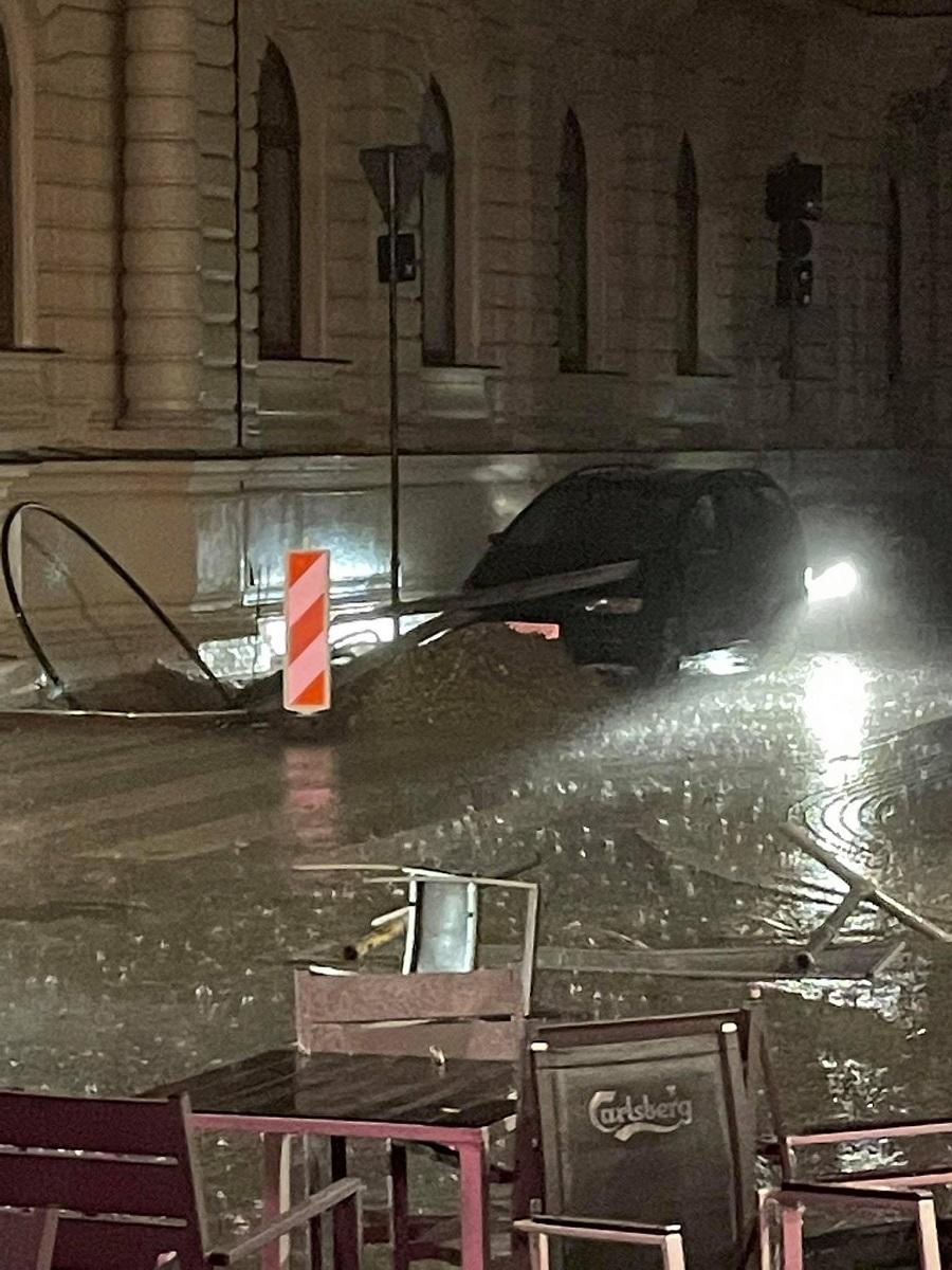Burza w Łodzi