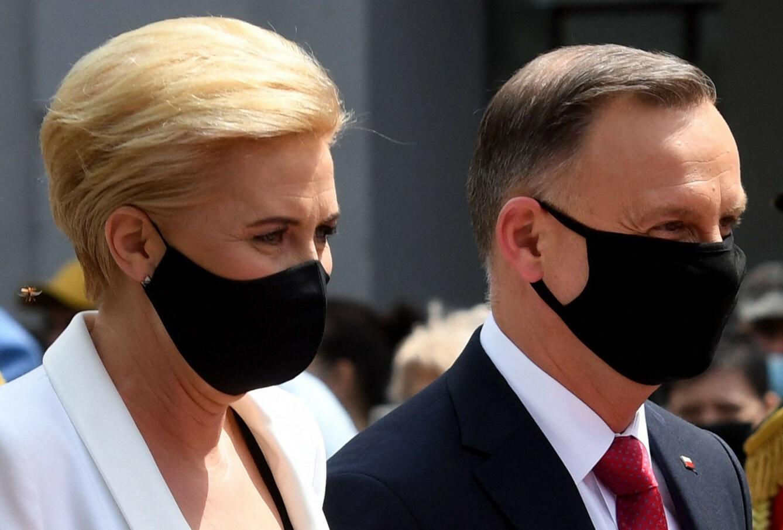 Agata Duda z mężem