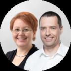 Ira Diethelm (Universität Oldenburg) und Dirk Röhrborn (Communardo Software)