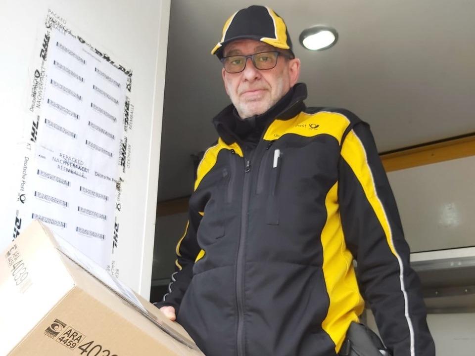 Werner Busemann, Paketbote