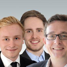 Philipp Sandner, Jonas Groß, Felix Bekemeier