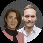 Ellen Ueberschär (Böll-Stiftung) und Philipp Sälhoff (Polisphere)