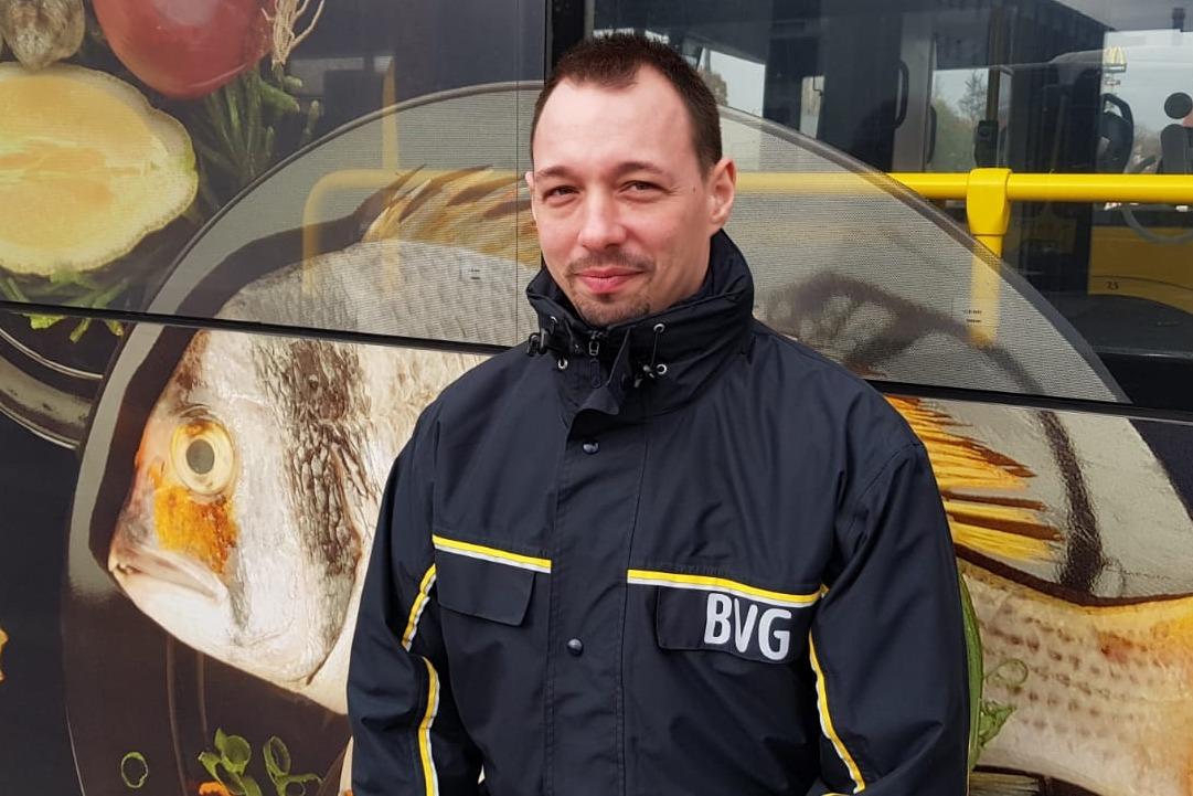 Patrick Fielitz, BVG-Busfahrer