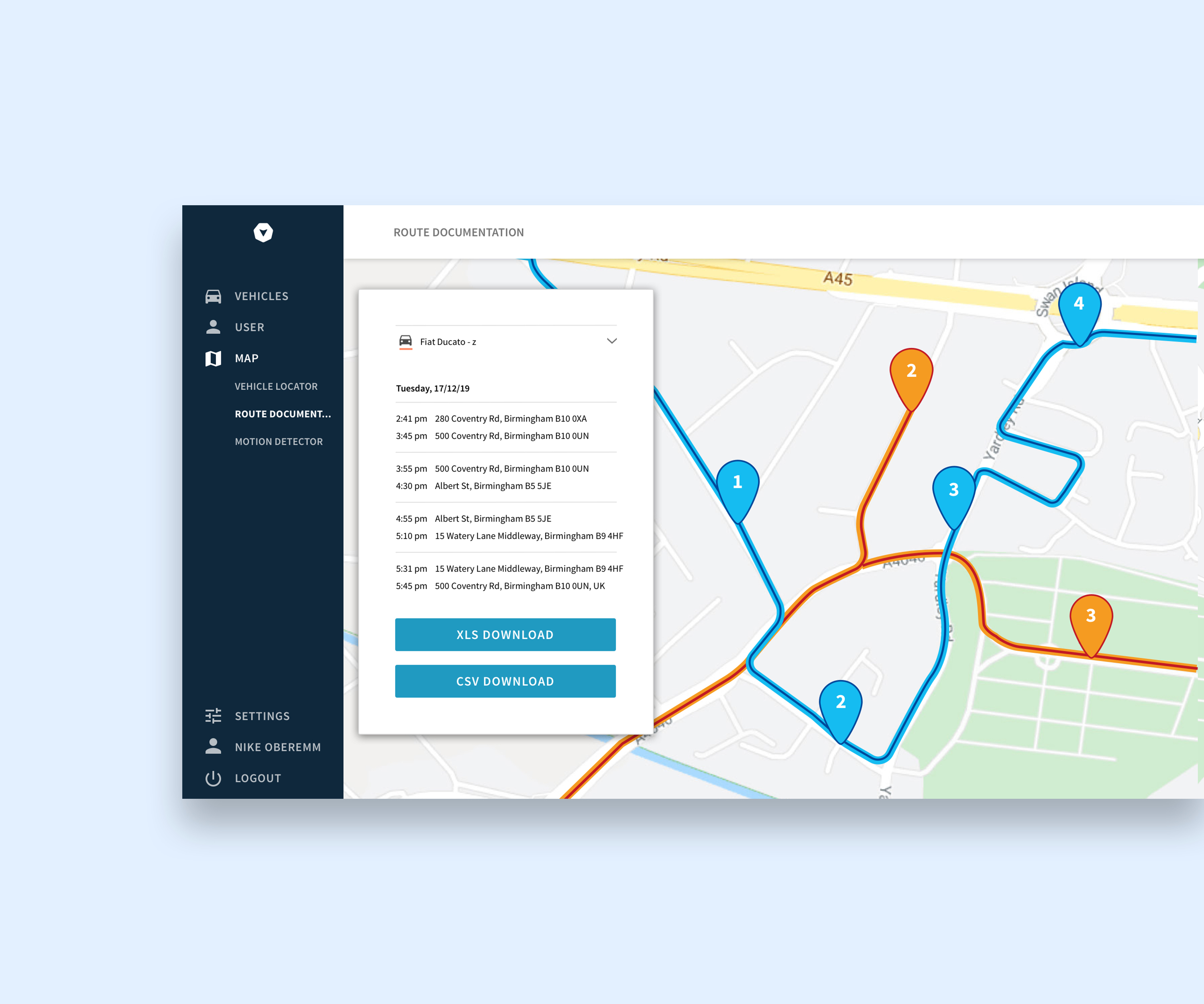 Route planning software as a fleet management solution
