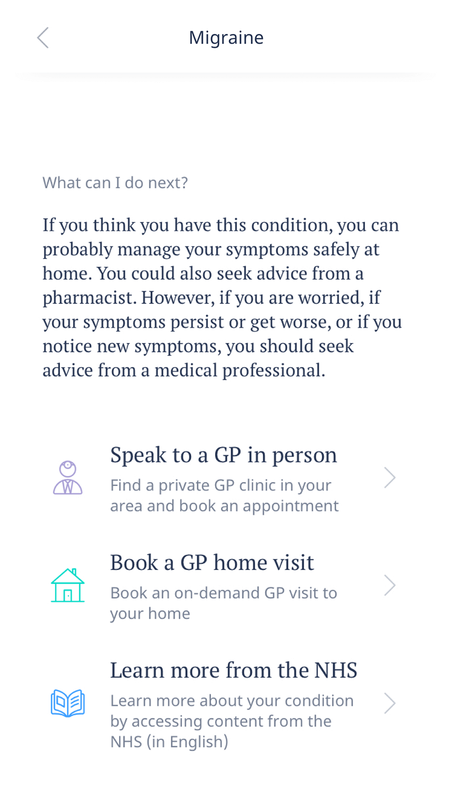 Use the in-app search to find doctors around you