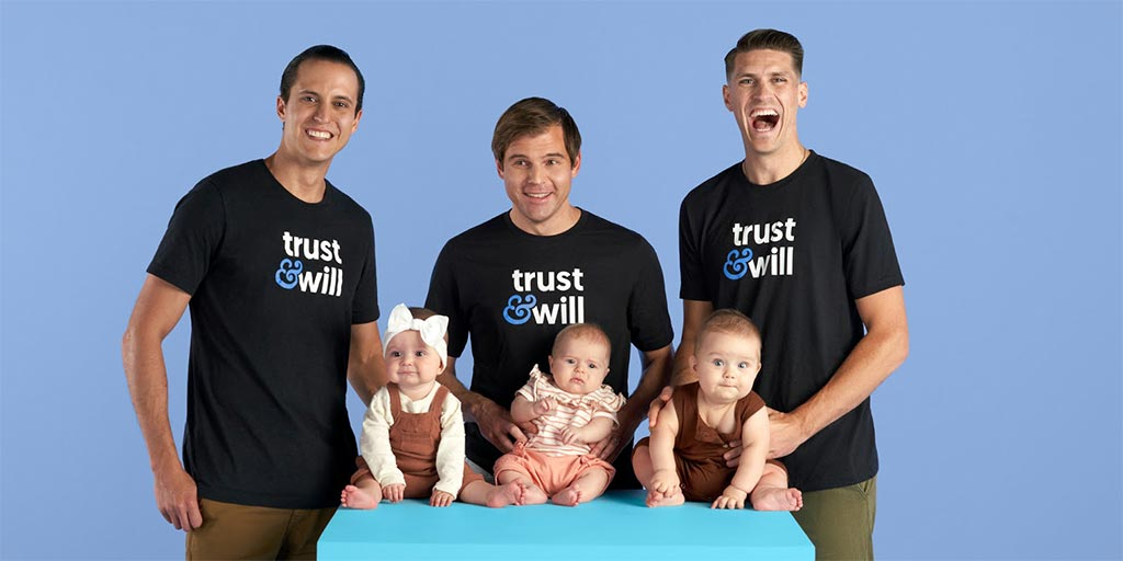 Trust & Will founding team, Cody Barbo, Brian Lamb, and Daniel Goldstein