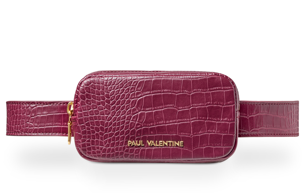 Amber Beltbag Burgundy Croco - Paul Valentine US