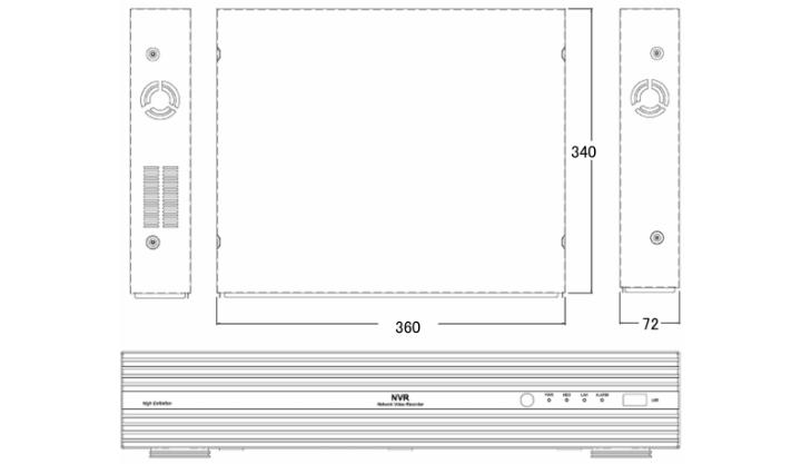 NVRモデルフロントパネル