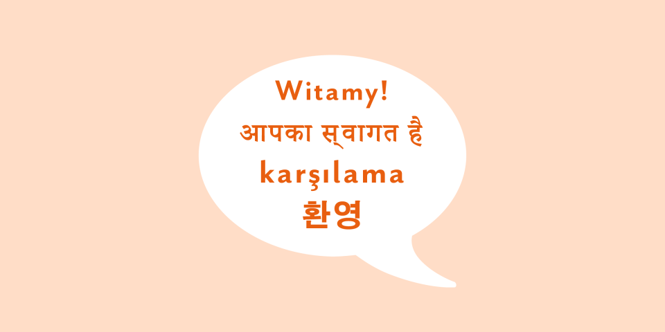 polish hindi korean and turkish phrases in a spe