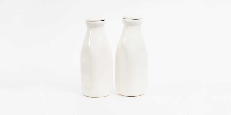 Two bottles of soy milk