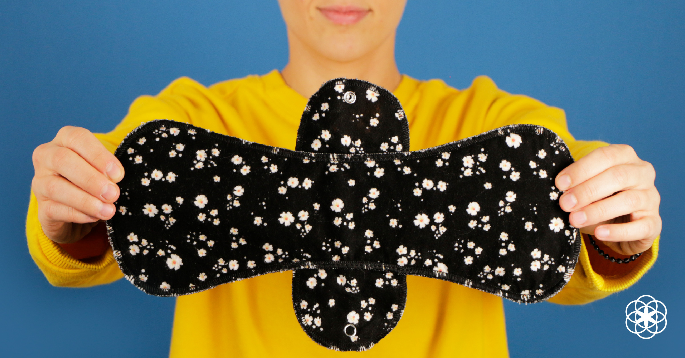 Reusable Menstrual Pads made of washable cloths Flowers