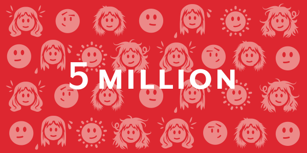5 million faces illustration