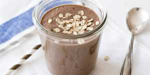 photo of a brown smoothie