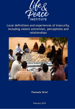 Local Definitions and experiences of insecurity, including violent extremism, perceptions and relationships  front cover