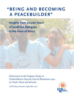 Being and Becoming a Peacebuilder front cover