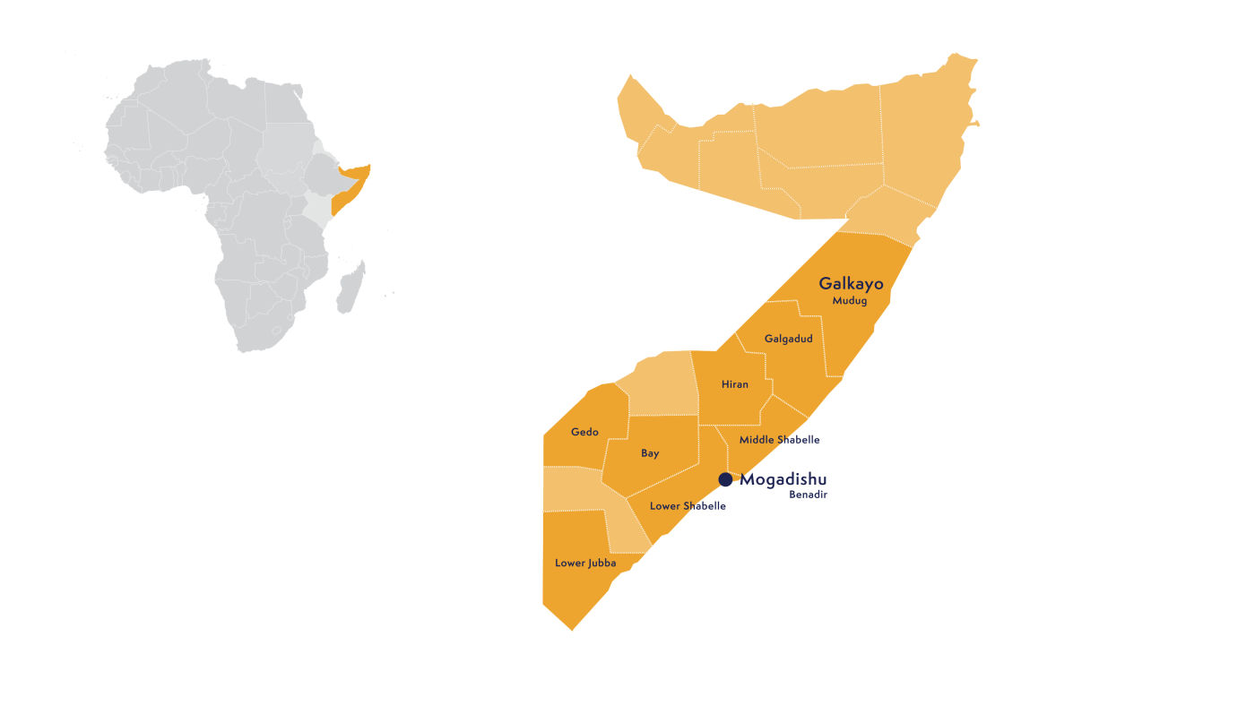 Map Somalia - updated