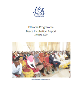 Peace Incubation Implementation Report, 2019 front cover