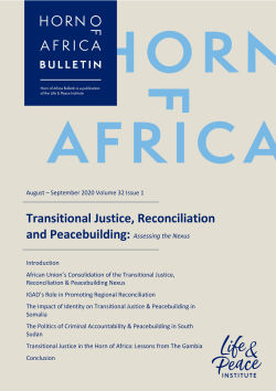 Transitional Justice, Reconciliation and Peacebuilding: Assessing the Nexus front cover