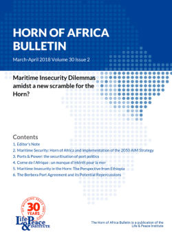 Maritime Security: Horn of Africa and Implementation of the 2050 AIM Strategy front cover