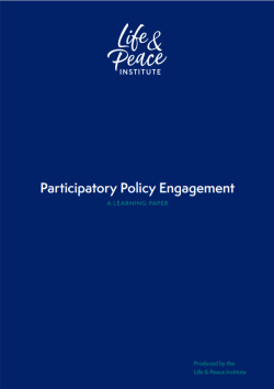 Participatory Policy Engagement: front cover