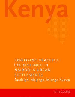 Exploring Peaceful Coexistence in Nairobi's Urban Settlements front cover