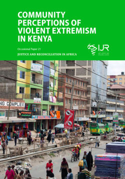 Community perceptions of violent extremism in Kenya front cover
