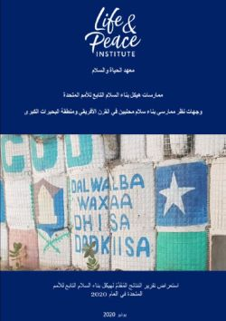 United Nations Peacebuilding Architecture in Practice: Perspectives from Local Peacebuilders in the Horn of Africa and Great Lakes Region - Arabic front cover
