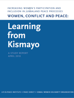 Women, Conflict and Peace front cover