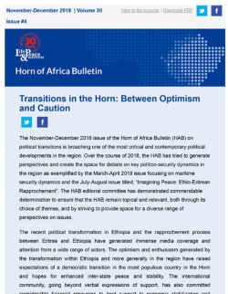 Transitions in the Horn: Between Optimism and Caution front cover