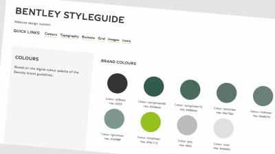 Bentley style guide colours
