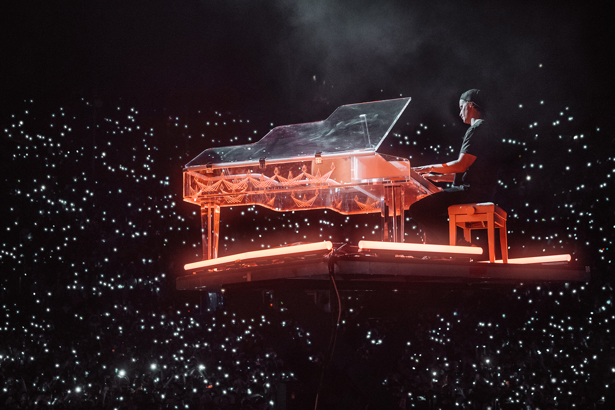 Kygo performing on piano