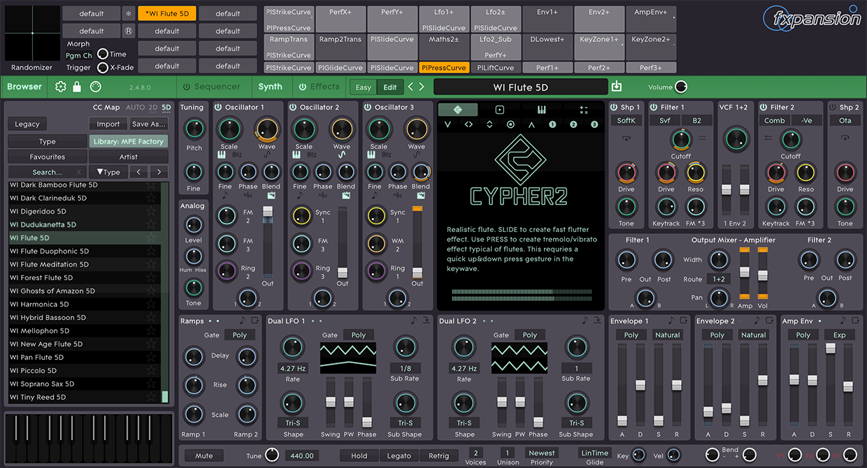 Cypher2 interface