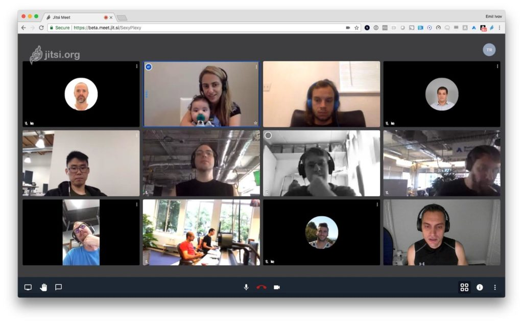 Open source video chat with Jitsi