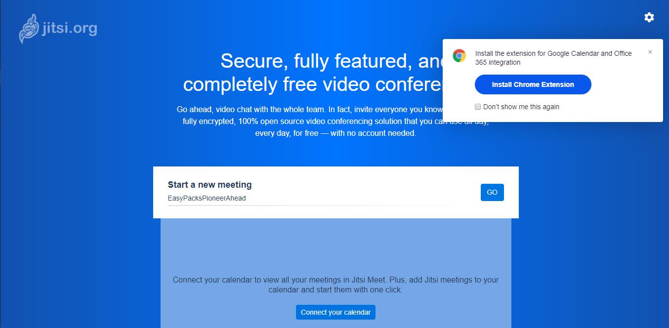 jitsi Chrome extension