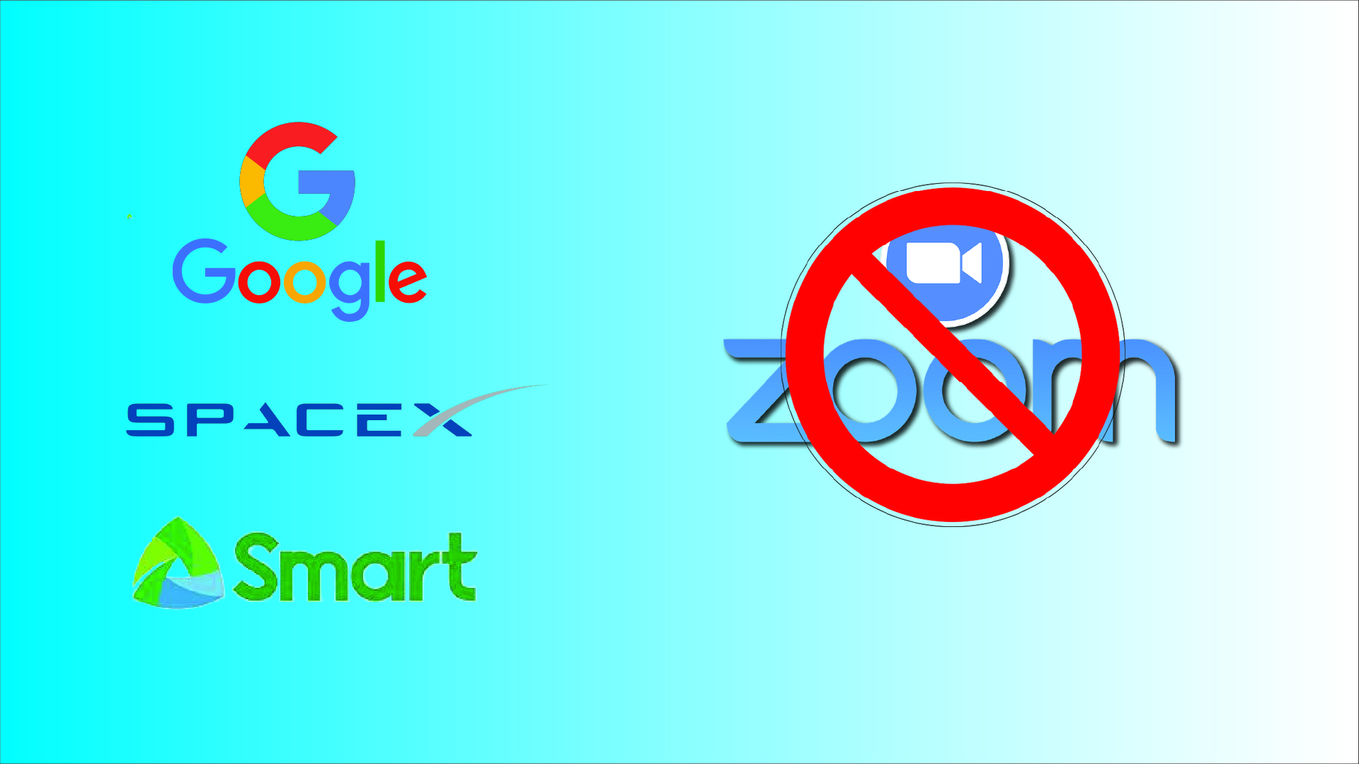 banned Zoom by google