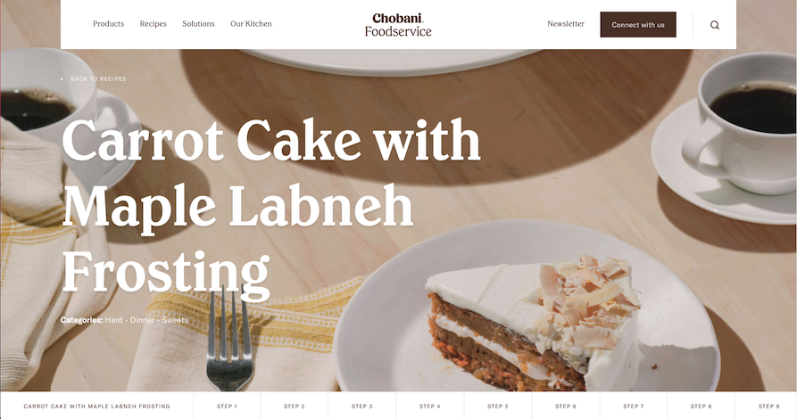 Chobani carrot cake with maple labneh frosting