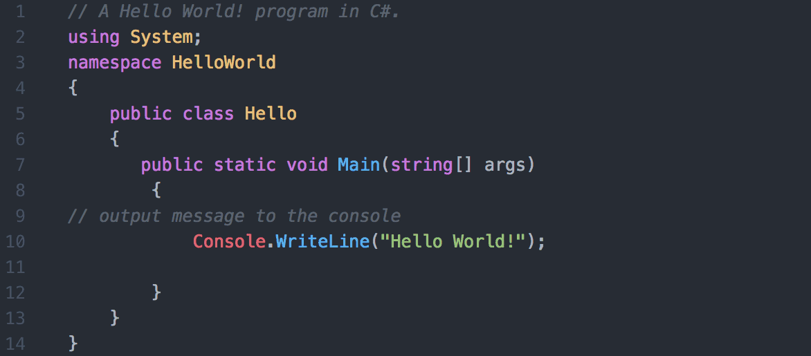 C# Hello World